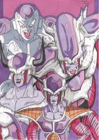 DBZ Frieza Forms by demonjester55