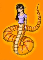 Amber the naga (READ! not my character!) by DracorianPrincess