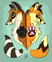 Two Foxes by Saffhire-Phoenix