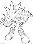 Silver The Hedgehog Coloring Page by ScourgeXNazo2