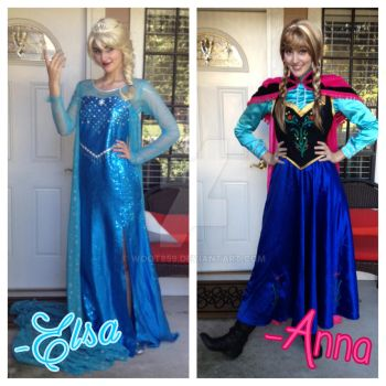 Seeing Double?? (Elsa and Anna) by woot859