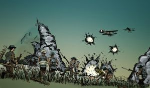 British Infantry attack on the Somme 1916 by timcatherall