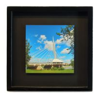 Esplanade Riel Pedestrian Bridge Framed Print by Joe-Lynn-Design