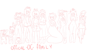 ::WIP:: Official OC Family//Added characters by SheepyMelly