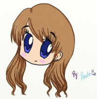 First tablet drawing: chibi girl by Azupaula