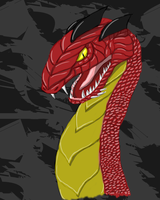 Red dragon by SupaJeffrey