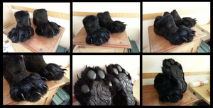 Angrist Wolf Footpaws by CuriousCreatures