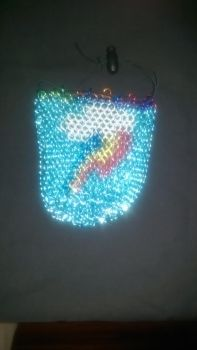 Rainbow Dash Chainmaille Dicebag V2 by TheGiantsnoll