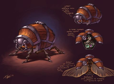 The Beetle Enchantress' chest by JuliaTar
