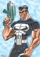 Punisher with colors by sapienstoonz