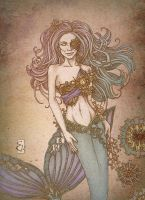 Steampunk Mermaid by ShatteredSwords