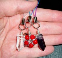 3 Cell Phone Charms by LWaite