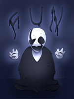 Gaster, He Who Speaks In Hands (+SPEEDPAINT) by MegLikesCookies