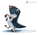 Daily Painting #957. Polar Dinosaur (OG) by Cryptid-Creations