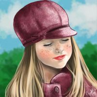 Child with hat by junfender