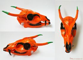 Pumpkin Dragon Skull FOR SALE by Sovriin