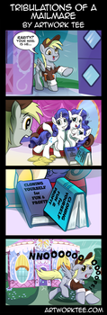 Tribulations of a Mailmare  by artwork-tee