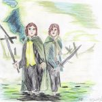 LOTRMerrY and Peppin by o0Hobbit0o