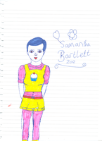 Self portrait cartoon 2012 version by Samantha-Bartlett