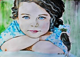 Little Charlotte. Watercolor. by AnQuirks