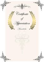 Appreciation Certificate Design by RaynePhotography