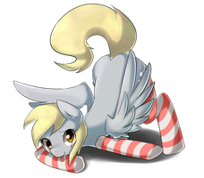 Derpy in Socks by Marenlicious