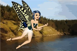 Wings Series: Me as a Monarch Fairy by Brushogen