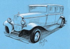 1928 Dodge Sedan by dieselart