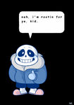 have a motivational Sans by Waackery