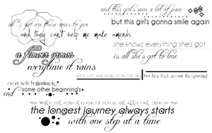 Lyrics Brushes - GIMP by bookjunkie2