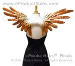 Metallic Gold Copper PHARIS Feather Angel Wings by eProductSales
