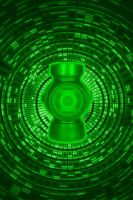 Swirling Green Lantern Battery Background by KalEl7