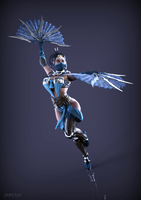 Kitana MK X portrait render by ArRoW-4-U