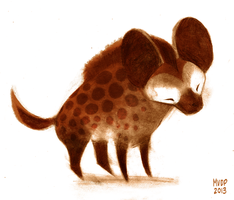 Spotted Hyena Sketch by sketchinthoughts