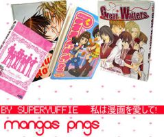 Mangas PNGs by Superyuffie