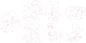 Rushed Practice Sketches - Tumblr Batch Request by DShou