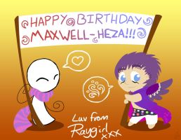 Birthday Banner for Maxwell by raygirl