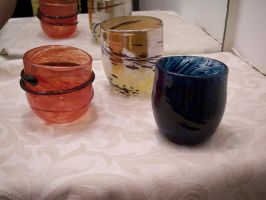 Primary Colors Cups by KimsButterflyGarden