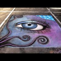 Chalk Eye by joleighwhite