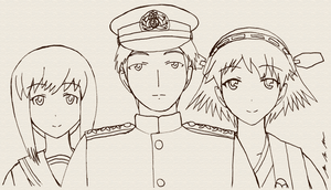 A Teitoku and His Two Ship Daughters by BoggeyDan