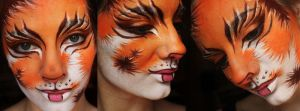 Calico face paint by XxShoneSoBrightly