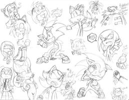 Sonic doodles time by RoseRei