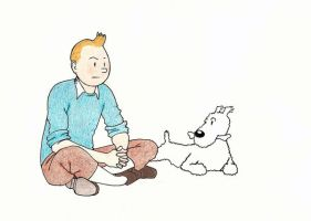 Tintin by eclecticmonologuist