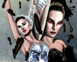 Odette and Odile - BLACK SWAN. by BecPriestess