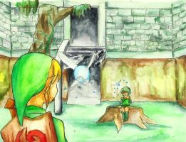 Link and Saria by Twentyfivegirl