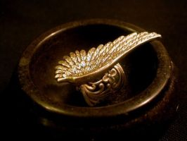 Angel wing ring by LeBoudoirNoir