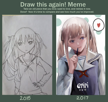 draw this agian meme by mierume