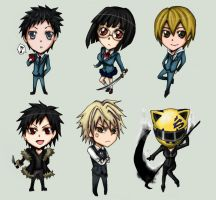 Drrr Chibis by nyuhatter