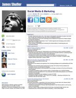 Resume - Social Network Adv. by rkaponm