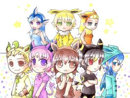 .Eeveelutions by nya-nannu